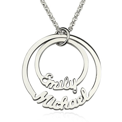 2 Disc Eternity Bands Name Necklace