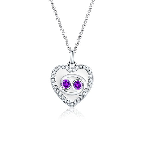 Cancer - Personalized Heart Photo  Necklace