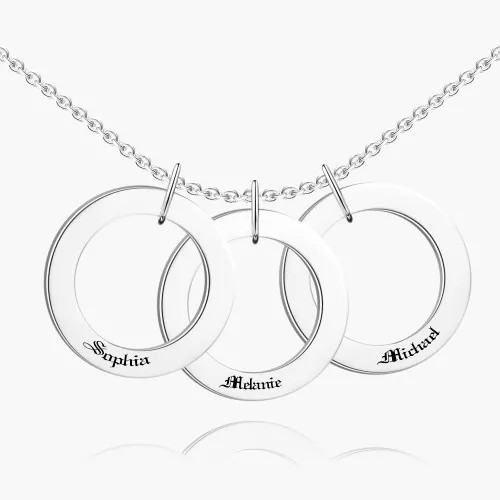 Engraved Hang Tag Necklace