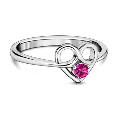 Infinity Love Promise Mother's Ring Silver