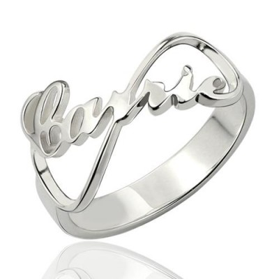 Carrie Style Infinity Name Ring