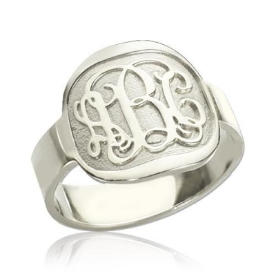 Engraved Monogram Ring