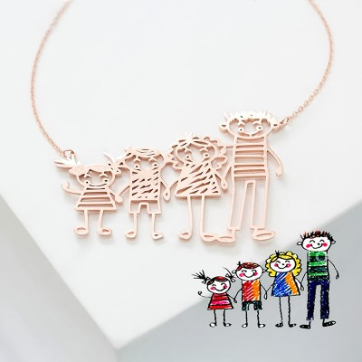 Kids' Drawing Necklaces - Special Jewelry For Moms