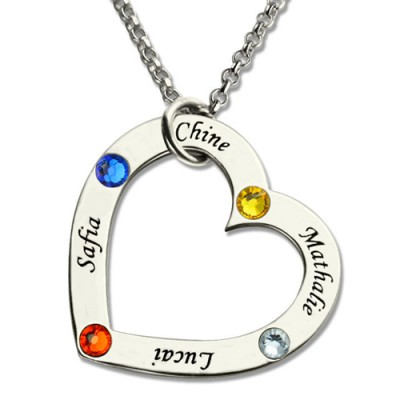 Mother Necklace Family In Your Heart Jewelry