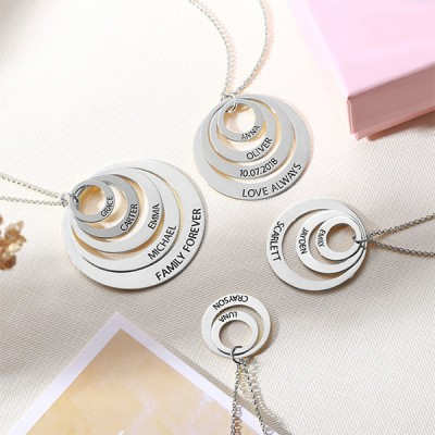 Engraved Three Disc Necklace