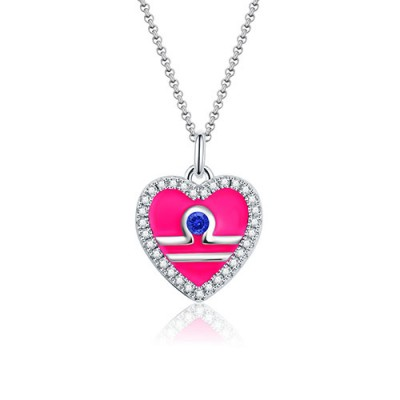 Libra - Personalized Heart Photo  Necklace