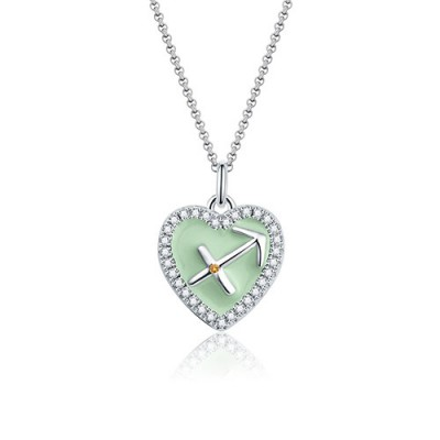 Sagittarius - Personalized Heart Photo  Necklace