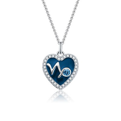 Capricornus - Personalized Heart Photo  Necklace