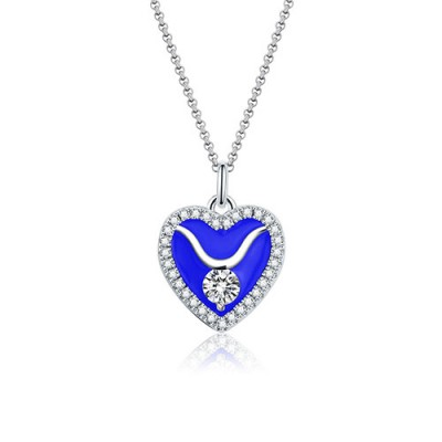 Taurus - Personalized Heart Photo  Necklace