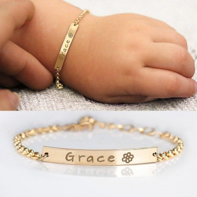 Custom New Baby Name Bracelet for Gift