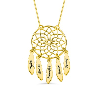 Personalized Dreamcatcher Necklace