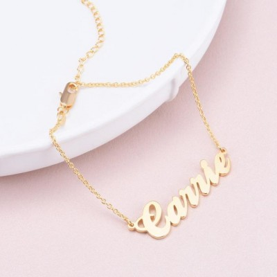 Carrie Copper Personalized Name Anklet Adjustable