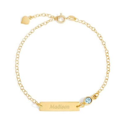 Personalized Birthstone Engraved Anklet Adjustable