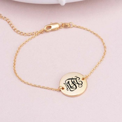 Personalized Oval Name Anklet Length Adjustable