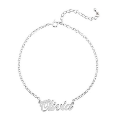 Personalized Name Anklet Length Adjustable