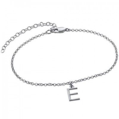 Personalized Uppercase Classic Anklet Length Adjustable