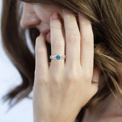 Personalized Birthstone Ring