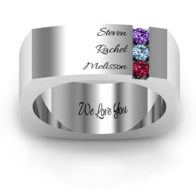 Cache Square-shaped Gemstone Dad Ring