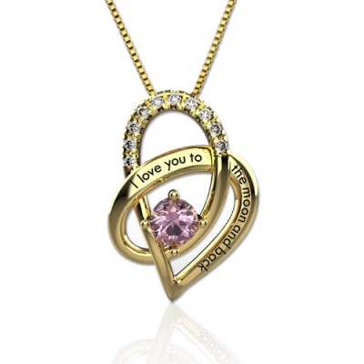 I Love You To The Moon And Back S925 Silver Necklace