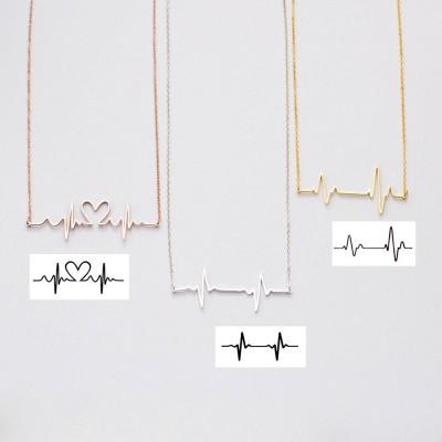 Baby  Heartbeat Necklace  | New Mom Gift