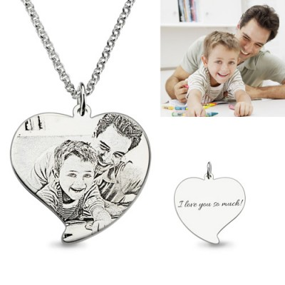 Personalized Photo-engraved Necklace