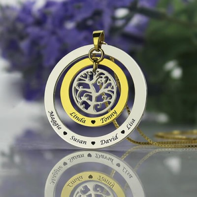 Family Tree Names Necklace