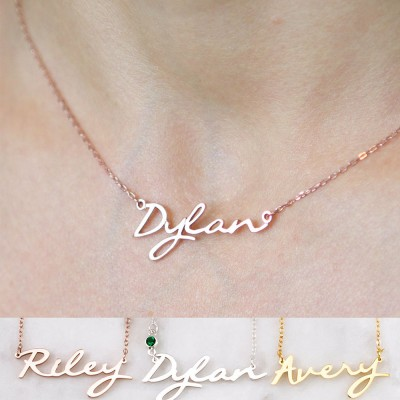 Custom Name Choker With Birthstone | Mothers Gifts