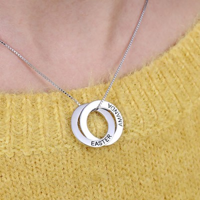 Custom Double Russian Ring Necklace