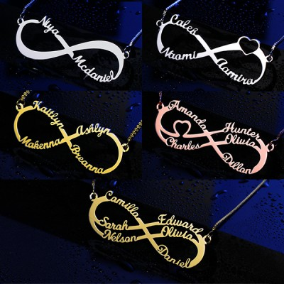 Infinity Name Necklace with 1-6 Names