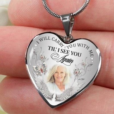 Personalised I Will Carry You with Me Necklace