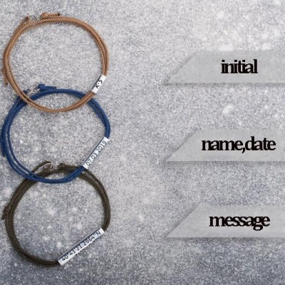 Personalized Strap Bracelet With Engraving