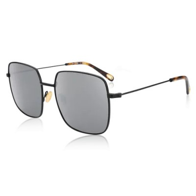 Square Sunglasses With Black Lenses And Brown Frame